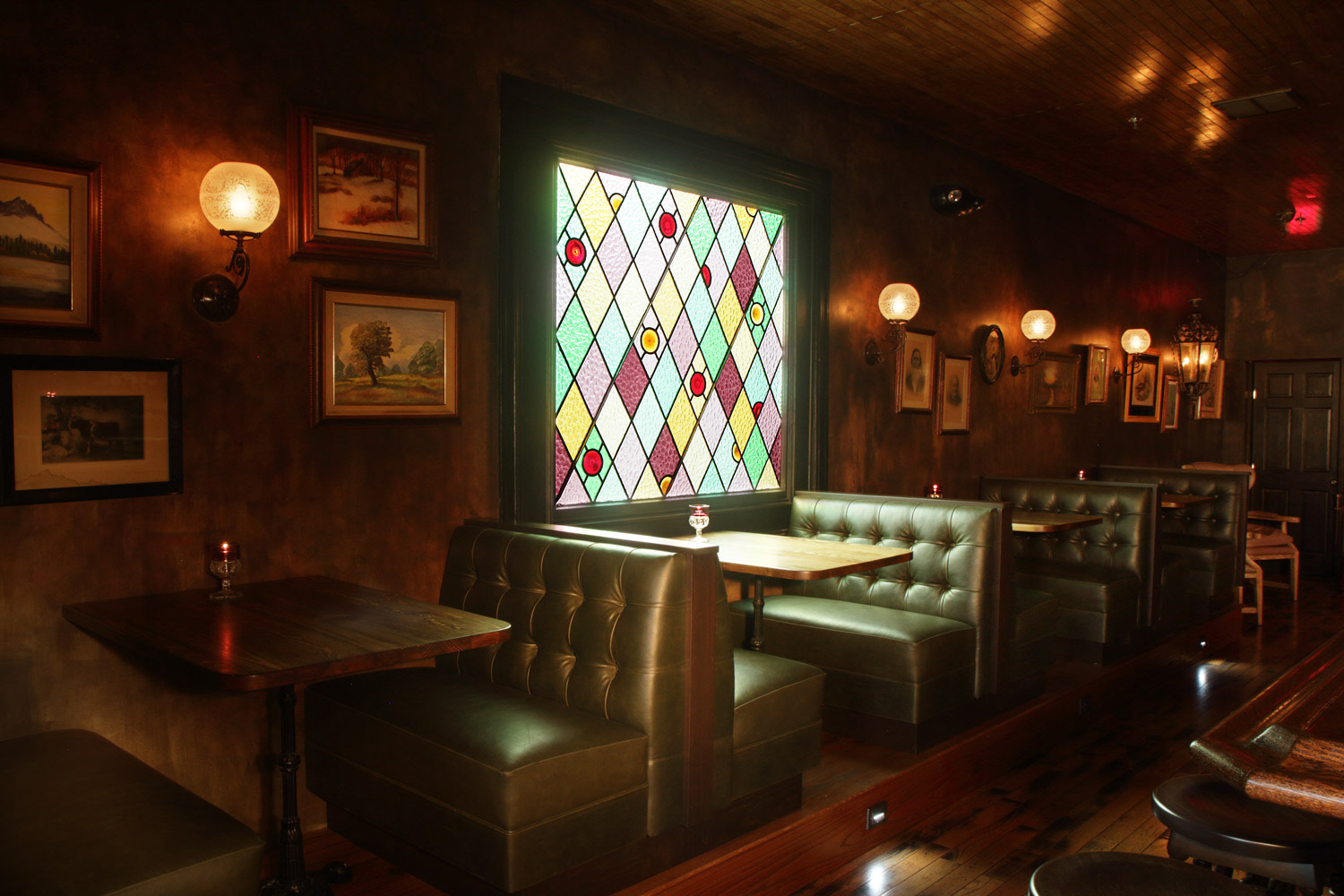 Old Man Bar booth seating