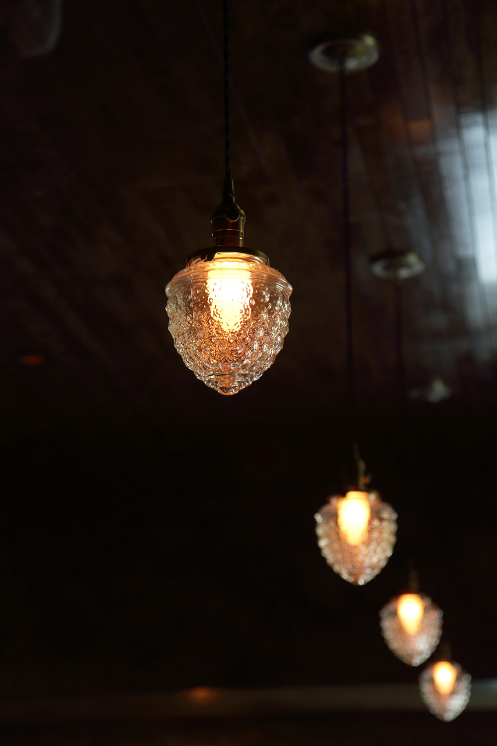 Old Man Bar pendant lights