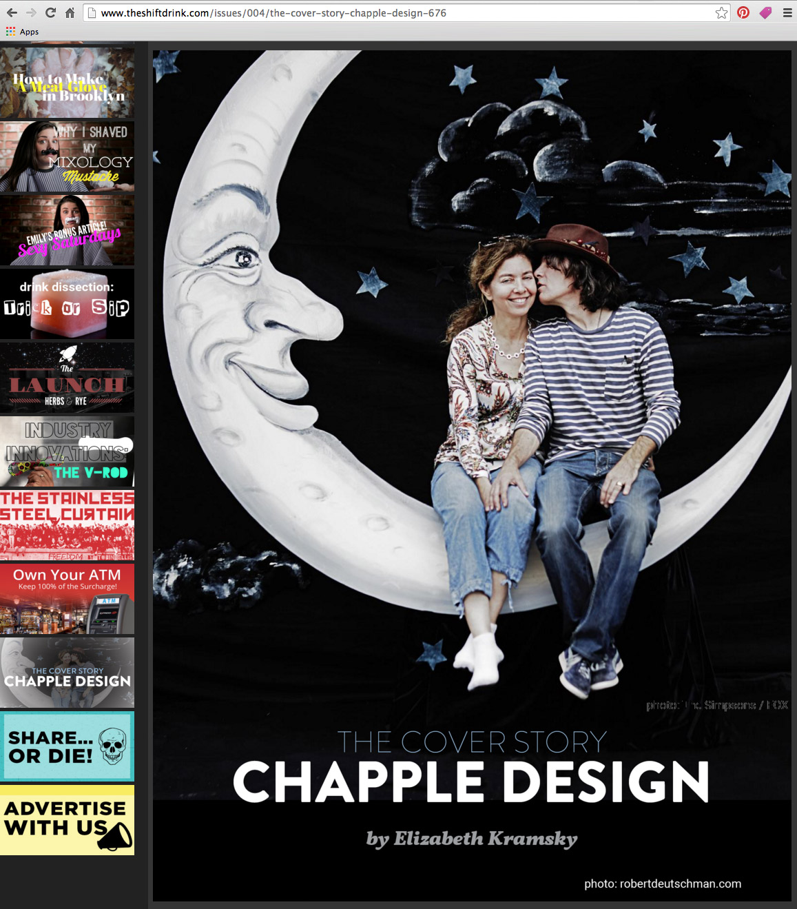 The ShiftDrink cover story: Chapple Design